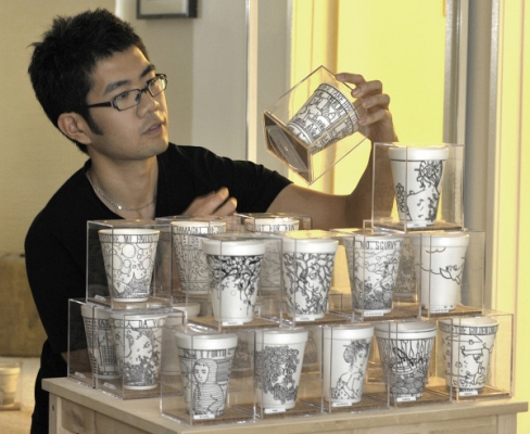 His cups sell for hundreds.