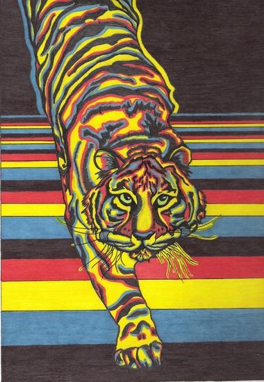 Psychedlic Tiger