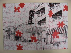 Sharpie puzzle pieces